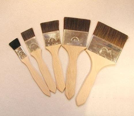 Cowhair flat brush
