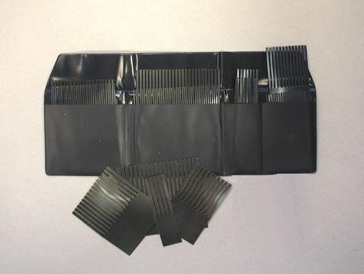 Set of steel combs