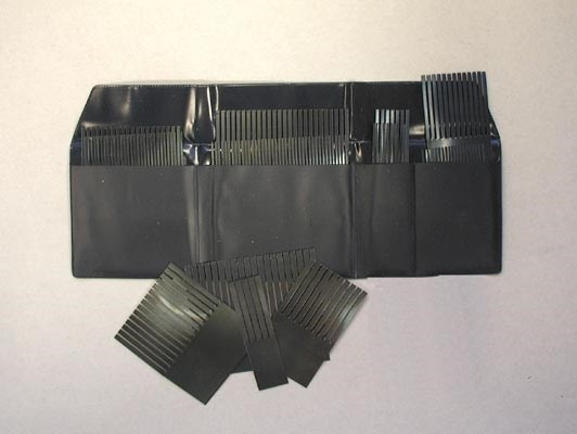 Set of steel combs